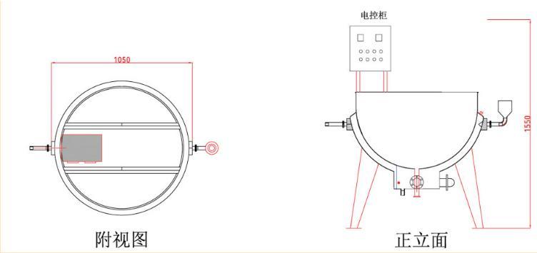 食品夹层zheng汽锅构造